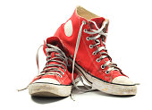 istock Old canvas sneakers 1214762369