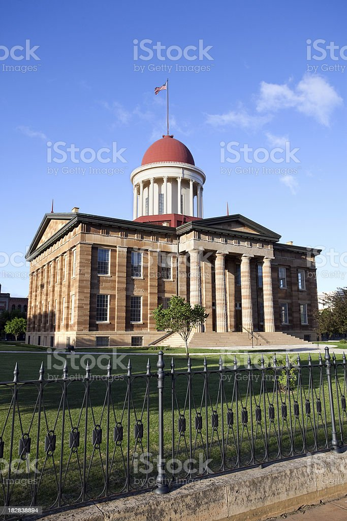 Old Capitol Building in Springfield Illinois stock photo