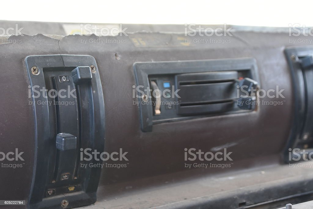 Old Car Air Conditioner stock photo