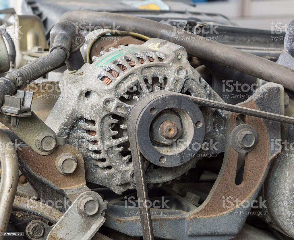 Old car alternator stock photo