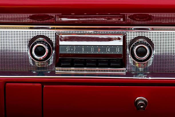 alte auto-audio - radio kultur stock-fotos und bilder