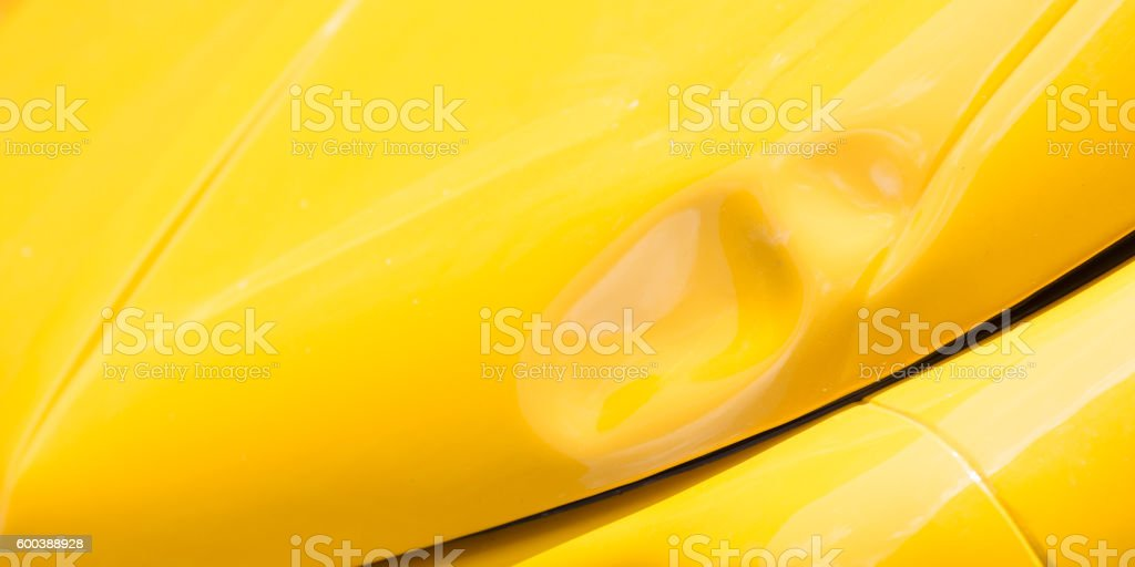 Old car bashed car body stock photo