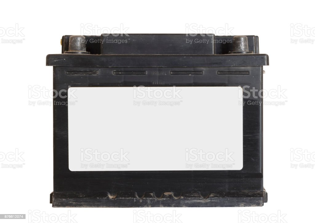 Old car battery stock photo