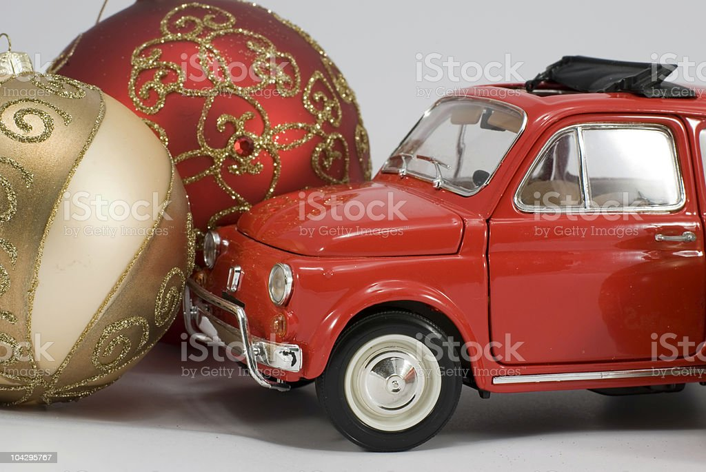 old car Christmas royalty-free stock photo