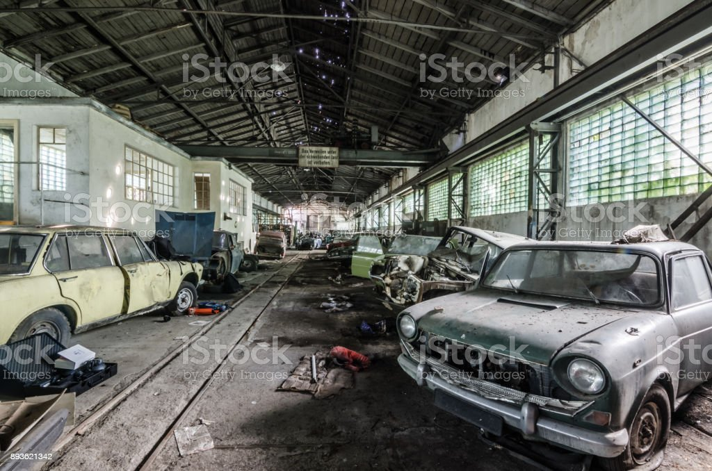 Old Car Collection In Hall stock photo | iStock