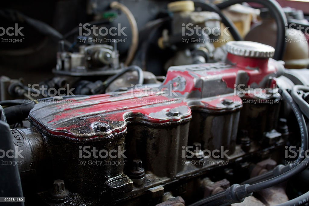 Old Car Engine Stock Photo & More Pictures of Business Finance and ...