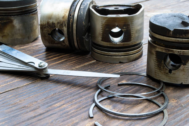 Old car engine pistons. Old car engine pistons. piston stock pictures, royalty-free photos & images