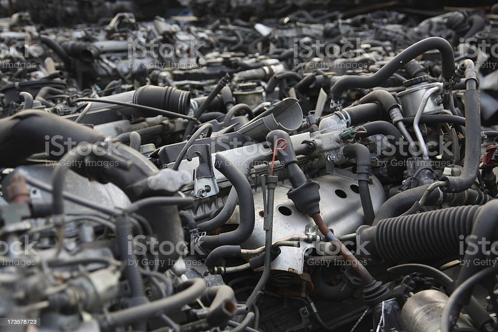 Old Car Engines Stock Photo & More Pictures of Abstract | iStock