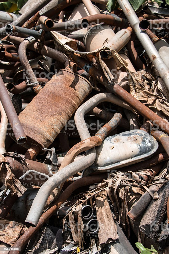 Old Car Exhaust royalty-free stock photo