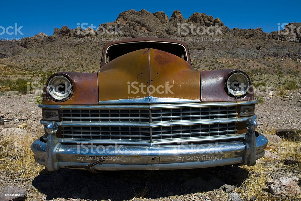 Old Car front end royalty-free stock photo