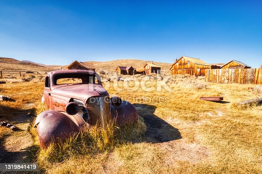 istock Old Car in Bodie Ghost Town, Historical State Park in California, USA 1319841419