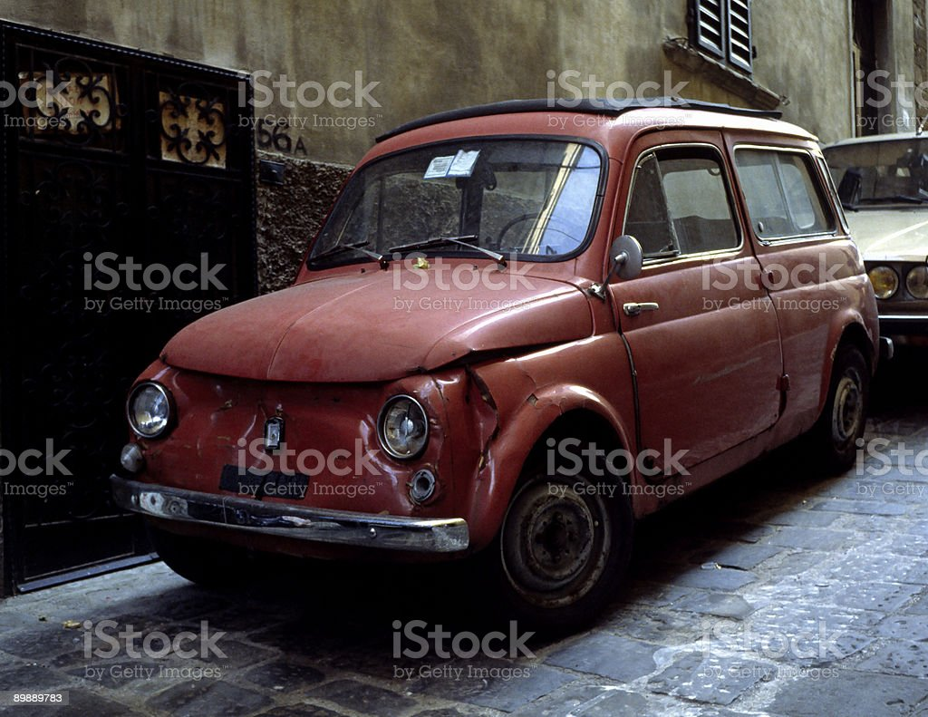 Old car in Italy royalty-free stock photo