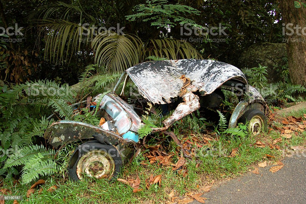 Old Car in Nature royalty-free stock photo