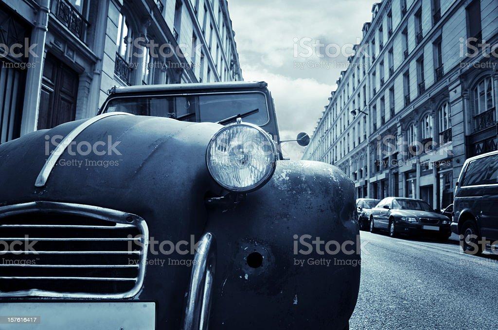 Old car in Paris stock photo