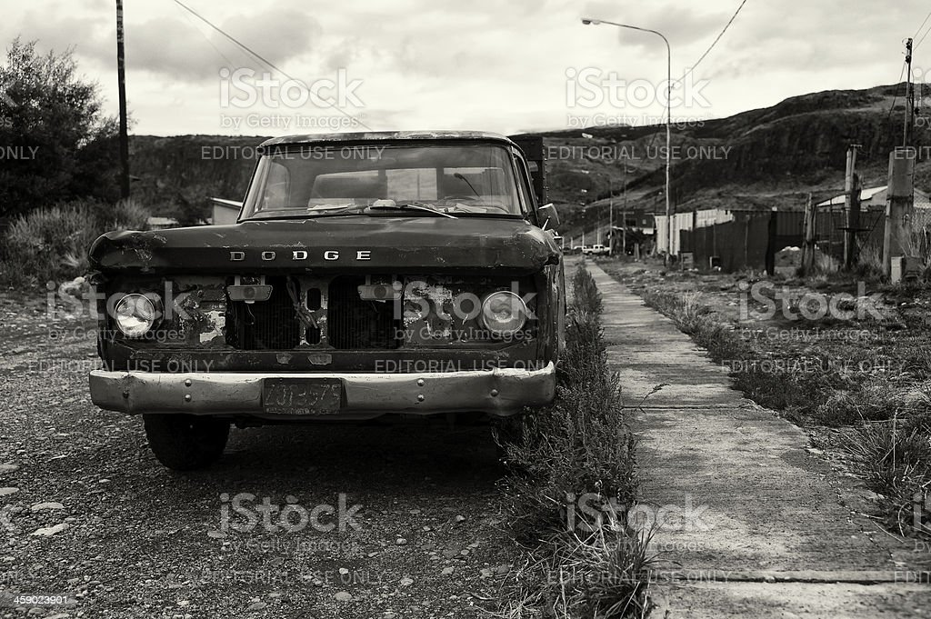 Old Car in Patagonia royalty-free stock photo