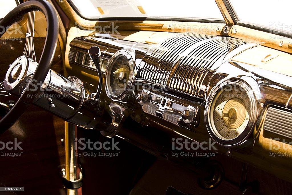Old car interior royalty-free stock photo