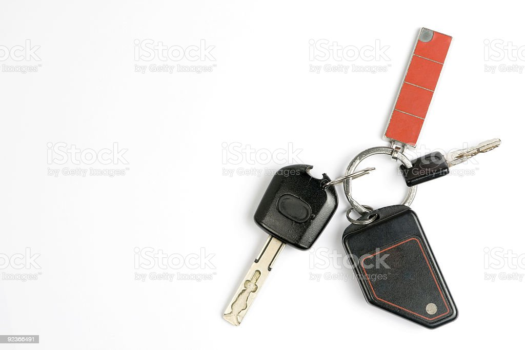 OLd car keys royalty-free stock photo