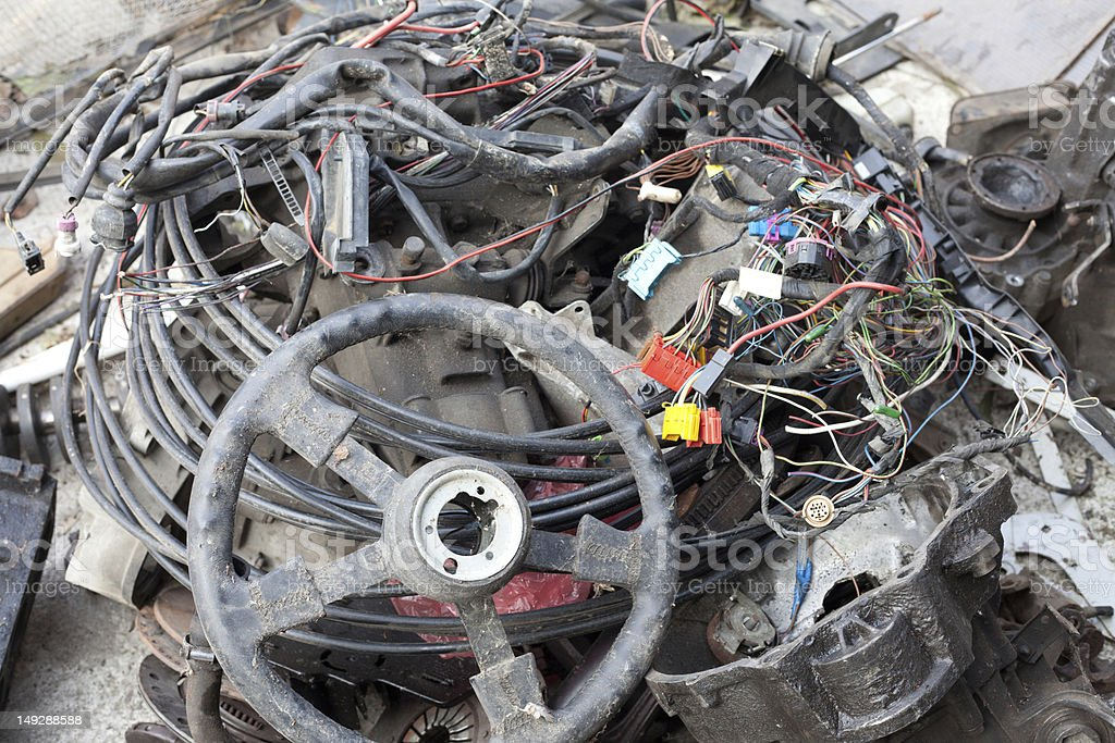Old Car Parts On A Pile Stock Photo Istock
