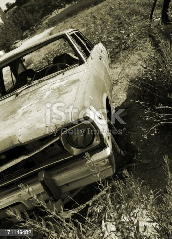 abundant damaged car in an old farm..Car Related Images..