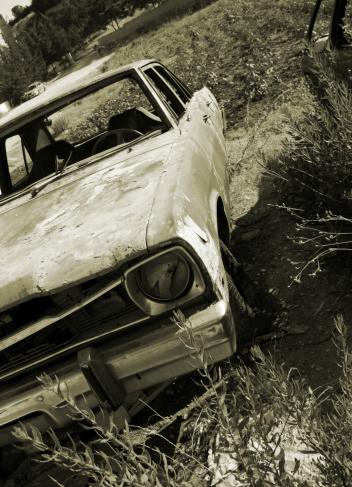 abundant damaged car in an old farm..Car Related Images..