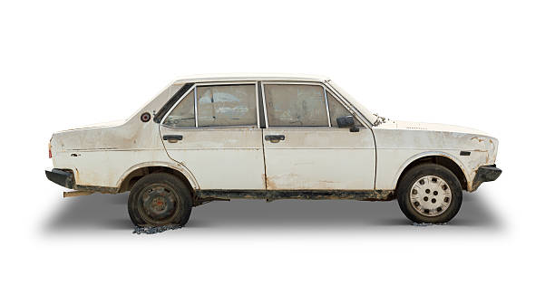 Old Car (Clipping Path Included) stock photo