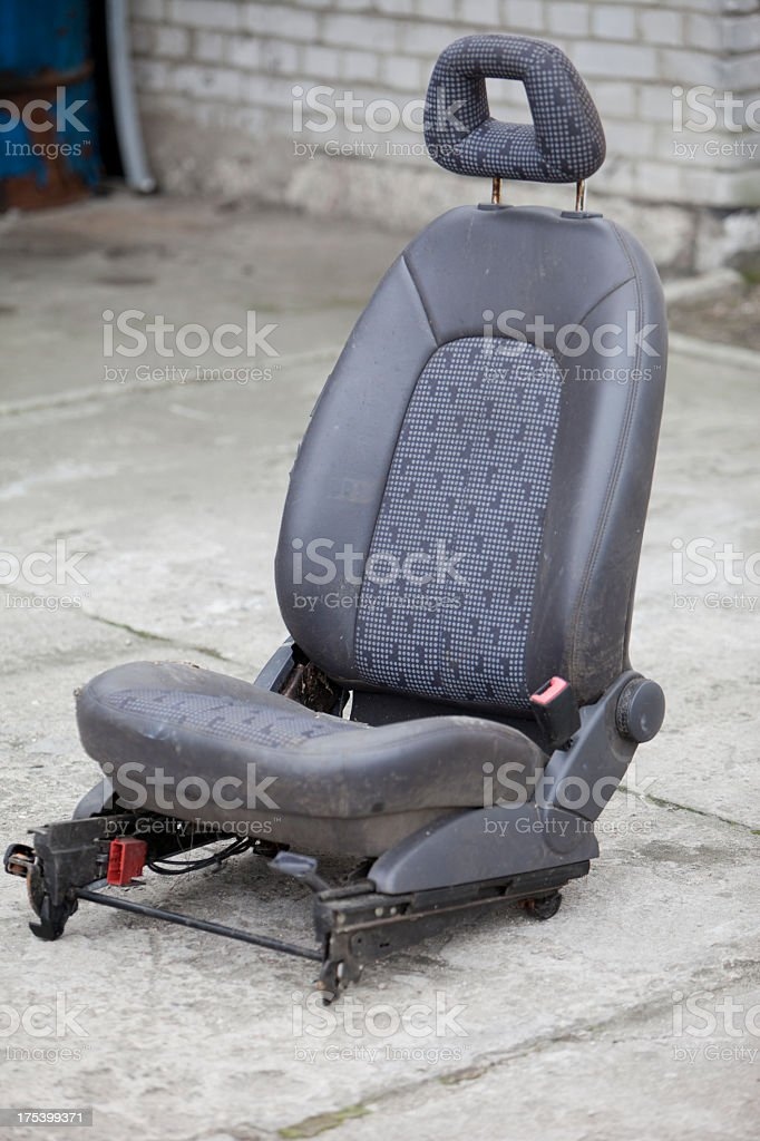 Old car seat stock photo