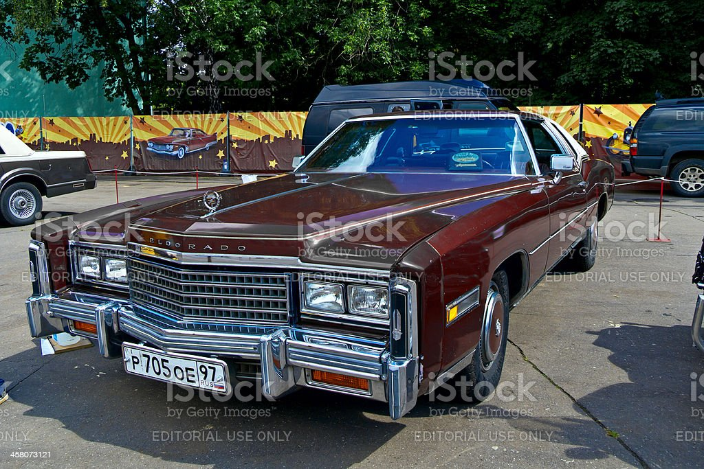 Old car show on Retrofest. Cadillac Eldorado stock photo