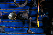 istock Old car spare parts 813146032