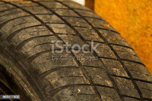 Old Car Tire Tread Texture Background Worn Out Protector Of Car Tire Used Wheels Close Up - Stockowe zdjęcia i więcej obrazów Abstrakcja