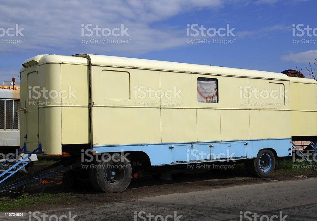 old caravan trailer royalty-free stock photo
