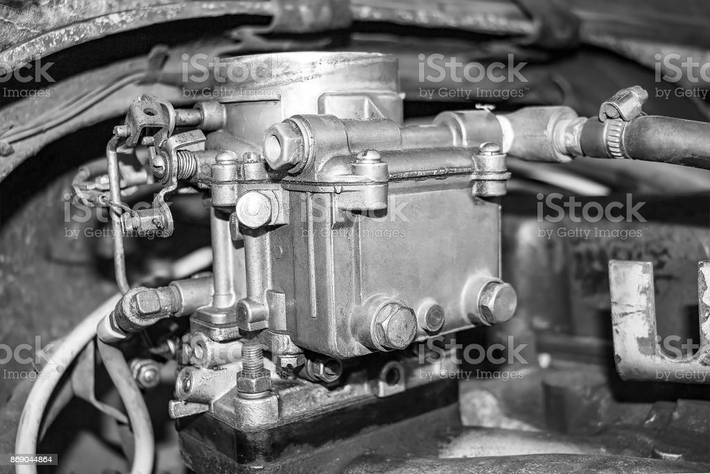 Old Carburetor On An Car Engine Stock Photo Download Image Now Istock