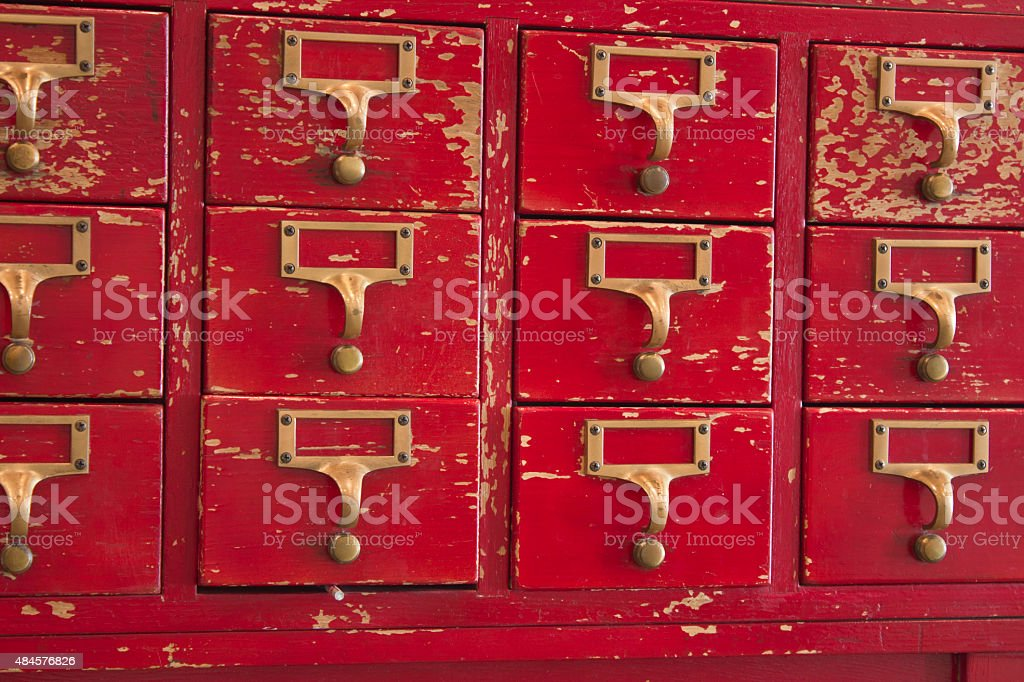 Old Card Catalog stock photo