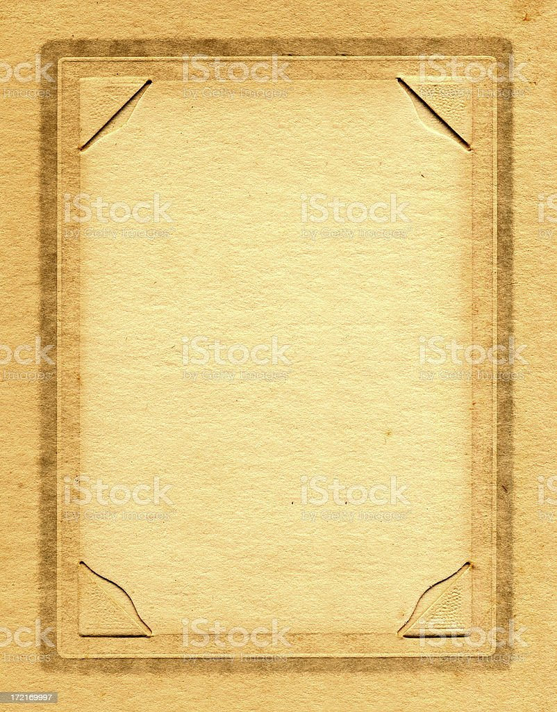 Old Cardboard Frame W Photo Corners Stock Photo More Pictures Of