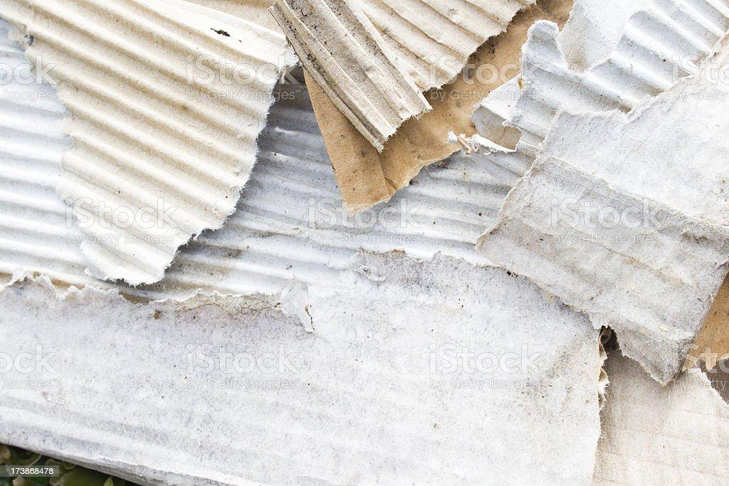 Old Cardboard. stock photo
