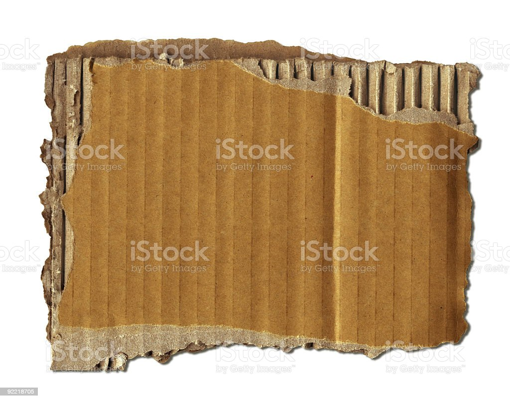 Old Cardboard Scrap (+clipping path, XXL) royalty-free stock photo