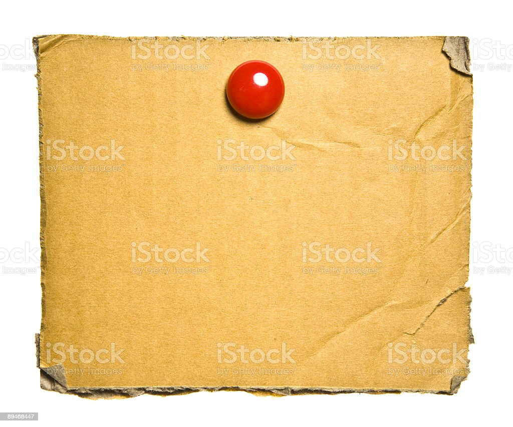 Old Cardboard With Clip royalty-free stock photo