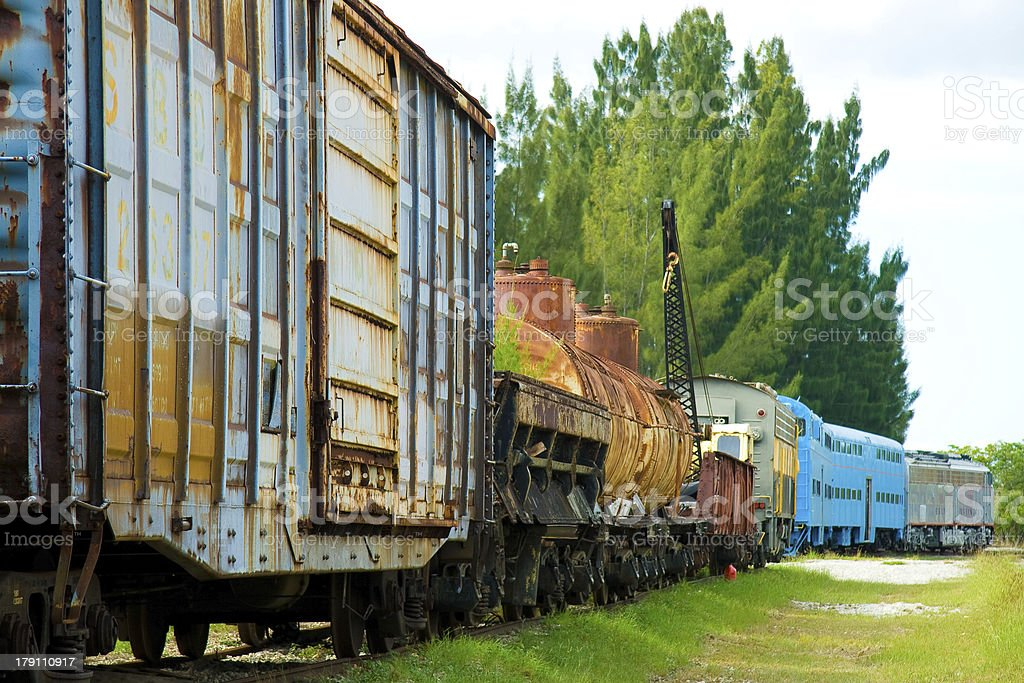 Old cargo train royalty-free stock photo