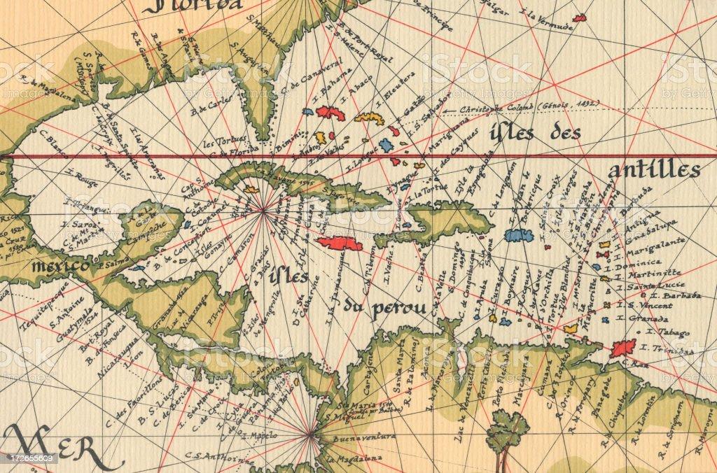 Old Caribbean Map Stock Photo IStock - World map caribbean
