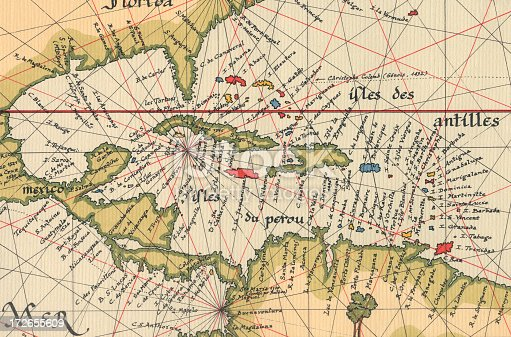 Old Caribbean map.