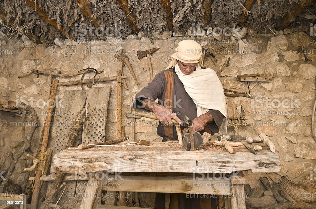 Old Carpenter stock photo