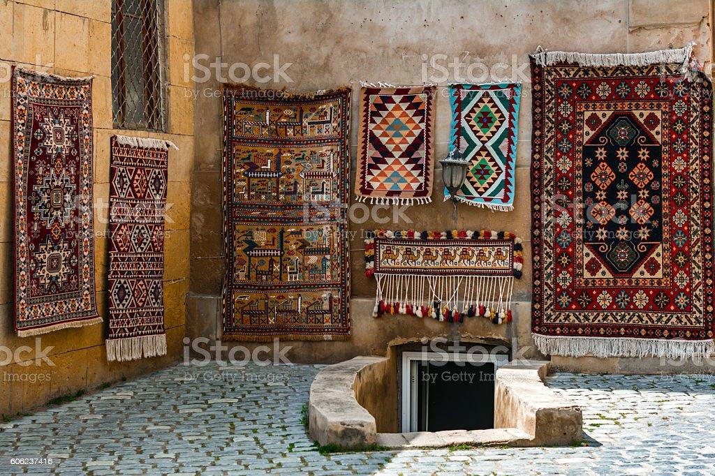 Old carpet stock photo