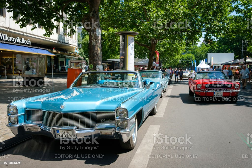 Old cars at Berlin Classic Days, a Oldtimer automobile event showing...