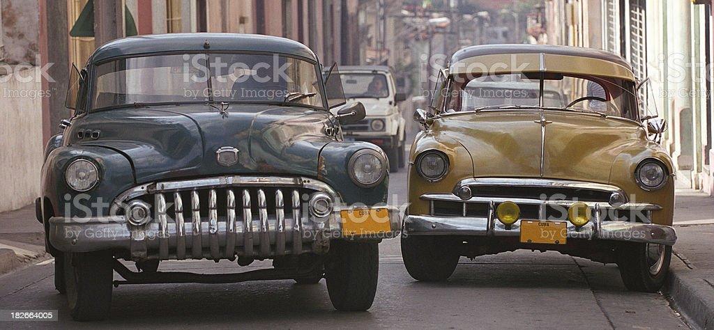 Old cars, Santiago de Cuba royalty-free stock photo