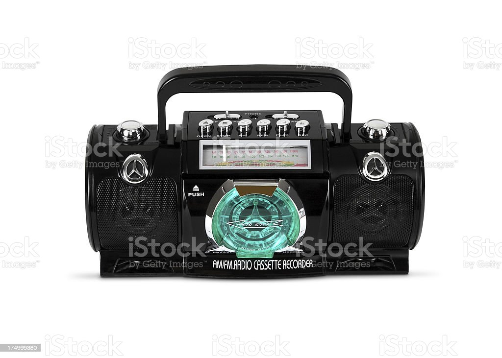 Old Casette Deck Player Radio stock photo