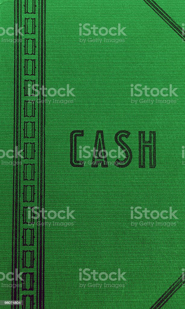 Old cash account book royalty-free stock photo