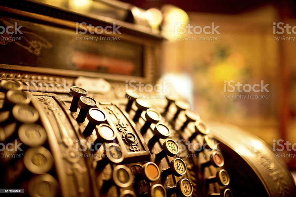 Old cash register stock photo