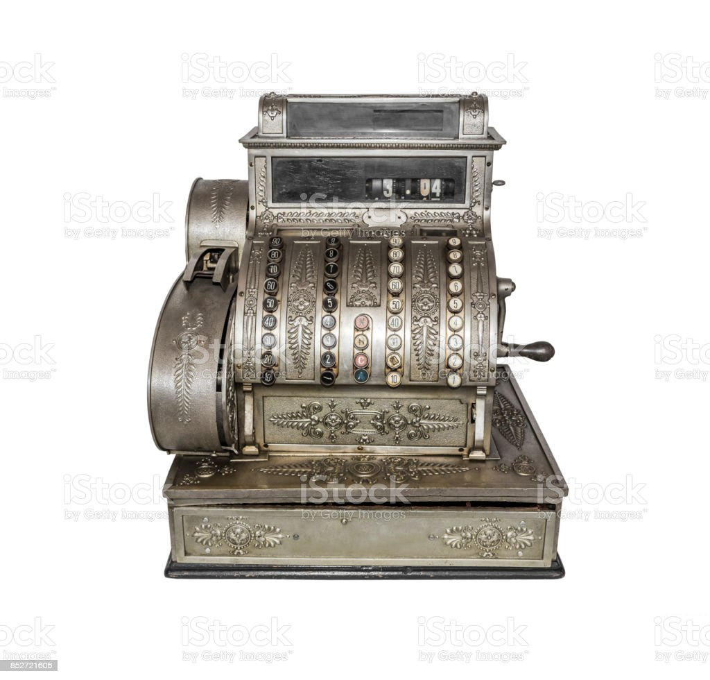 Old caixa registradora - foto de acervo
