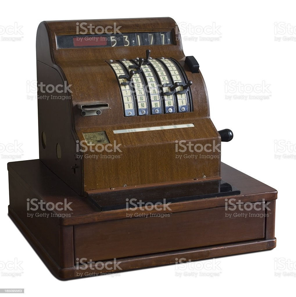 Old Cashier royalty-free stock photo