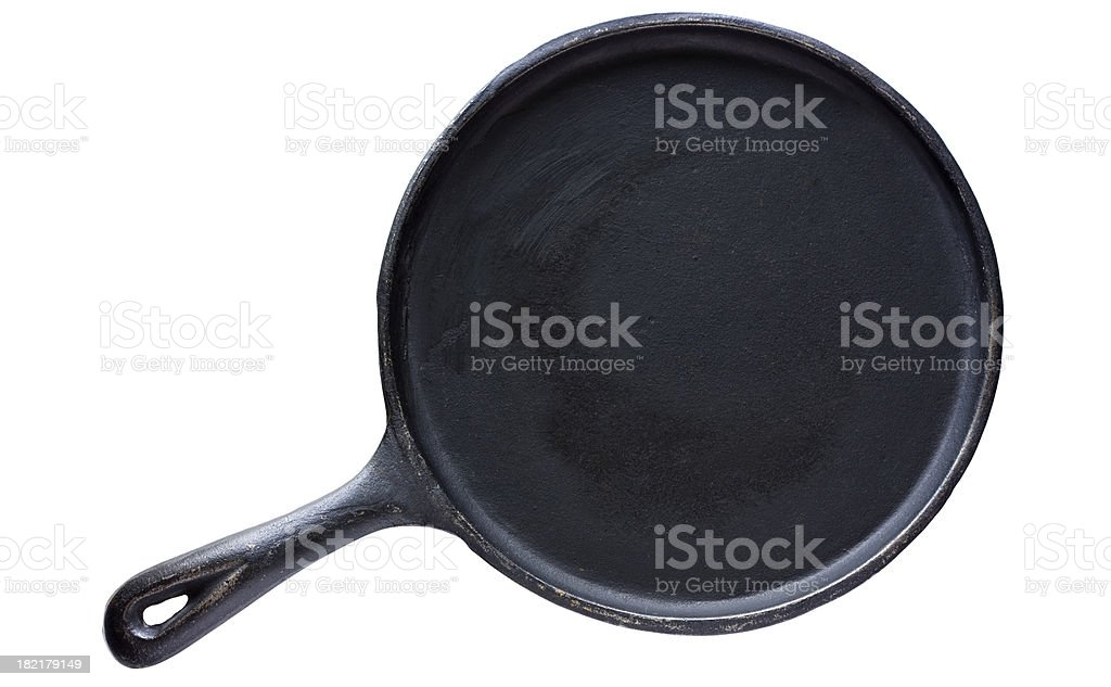 Old Cast Iron Skillet stock photo