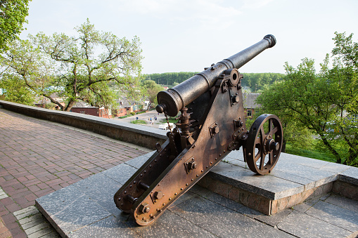 istock Old cast-iron cannon in Chernihiv, Ukraine 939755346